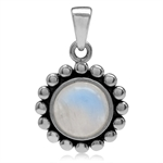 8MM Natural Moonstone 925 Sterling...