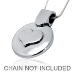 Stainless Steel Embossed HEART Pendant by Inori