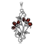 1.68ct. Natural Garnet 925 Sterlin...