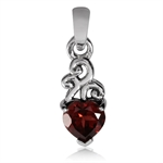 Petite Natural Heart Shape Garnet ...
