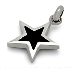 Black 316L PVD Stainless Steel STAR Pendant