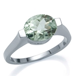 2.43ct. Natural Green Amethyst Whi...