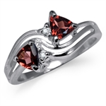 Natural Garnet & White Topaz 925 S...