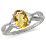 1.08ct. Natural Citrine 925 Sterling Silver Solitaire Ring