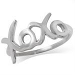 925 Sterling Silver XOXO Ring