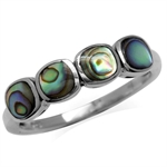 Puau/Abalone Shell Inlay 925 Sterling Silver Ring
