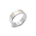 Women Copper Tone HEART Stainless Steel Band Ring by Inori