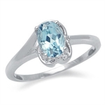 1ct. Natural Blue Topaz White Gold Plated Swirl Solitaire Ring