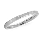 2MM 316L Stainless Steel Hammered Stack/Stackable Band Ring
