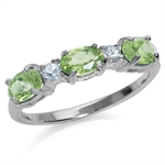 1.38ct. 3-Stone Natural Peridot & ...