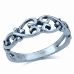 925 Sterling Silver FILIGREE HEART Ring