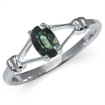 Color Change Alexandrite Doublet 925 Sterling Silver Solitaire Ring