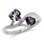 1.43ct. Heart Shape Mystic Fire To...