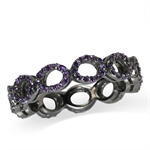 5MM Amethyst Purple CZ 925 Sterlin...