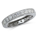 4MM White CZ Gold Plated Sterling Silver Eternity Ring