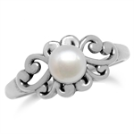 6MM Cultured White Pearl 925 Sterl...