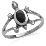 Created Black Onyx Inlay 925 Sterl...