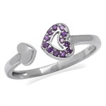 Amethyst Purple CZ White Gold Plat...