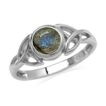Natural 6 mm Round Labradorite Sto...