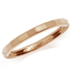 2MM Rose Gold Tone 316L Stainless Steel Hammered Stack/Stackable Band Ring