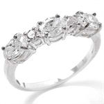 White CZ 925 Sterling Silver Ring
