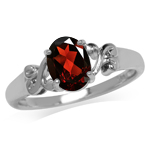 1.34ct. Natural Garnet 925 Sterlin...