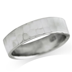 5MM Hammered 925 Sterling Silver Band Ring