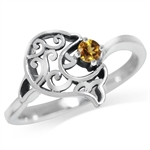 Natural Citrine 925 Sterling Silve...