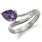 1.09ct. Natural Amethyst 925 Sterling Silver Solitaire Ring