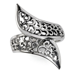 925 Sterling Silver Filigree Bypas...