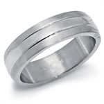 Men's 6MM Wide Stainless Steel Band Ring