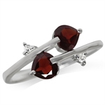 1.14ct. Natrual Garnet & White Top...