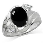 Created Black Onyx & White Topaz 9...