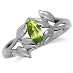 Natural Peridot Antique Finish 925...