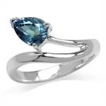 1.75ct. Color Change Alexandrite Doublet 925 Sterling Silver Solitaire Ring