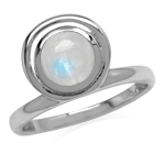 Natural Rainbow Moonstone 925 Ster...