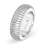 8MM Unisex Stainless Steel Pattern Eternity Band Ring by Inori