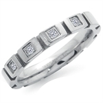 Unisex CZ Stainless Steel Journey Eternity Ring
