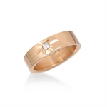 Women CZ Rose Gold Tone 316L Stainless Steel Eternity Wedding Band Ring