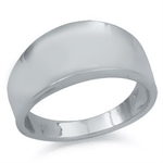 8MM 925 Sterling Silver Concaved R...