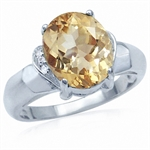3.87ct. Natural Citrine & White To...