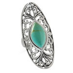 Created Green Turquoise 925 Sterli...