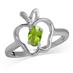 Peridot Green CZ 925 Sterling Silv...