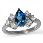 1.6ct. Genuine London Blue & White...