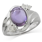 Natural Amethyst & White Topaz 925...