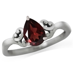 1.36ct. Natural Garnet 925 Sterling Silver Solitaire Ring