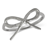 Petite 925 Sterling Silver RIBBON/BOW Ring