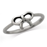 Petite 925 Sterling Silver RIBBON/BOW Knuckle Ring