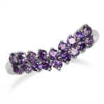 Amethyst Purple CZ Double Row V-Sh...