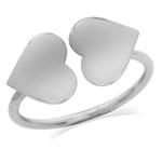 10MM 925 Sterling Silver Twin Hear...